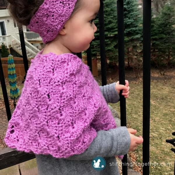 Starburst Crochet Toddler Poncho Free Crochet Pattern Stitching