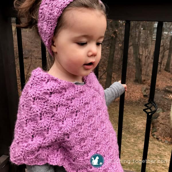 Starburst Crochet Toddler Poncho Free Crochet Pattern Stitching