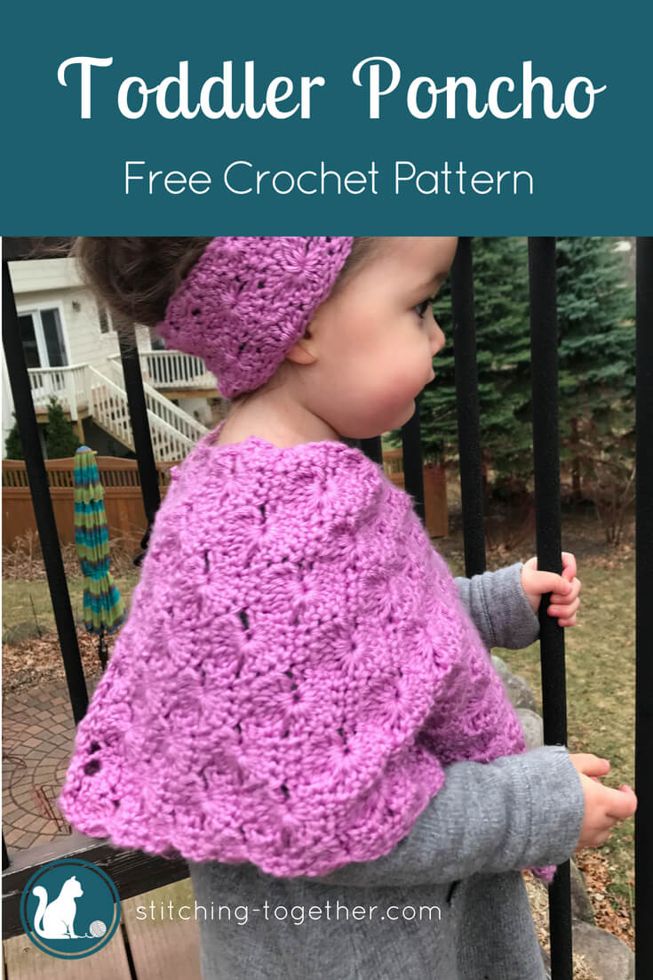 Starburst Crochet Toddler Poncho | Free Crochet Pattern