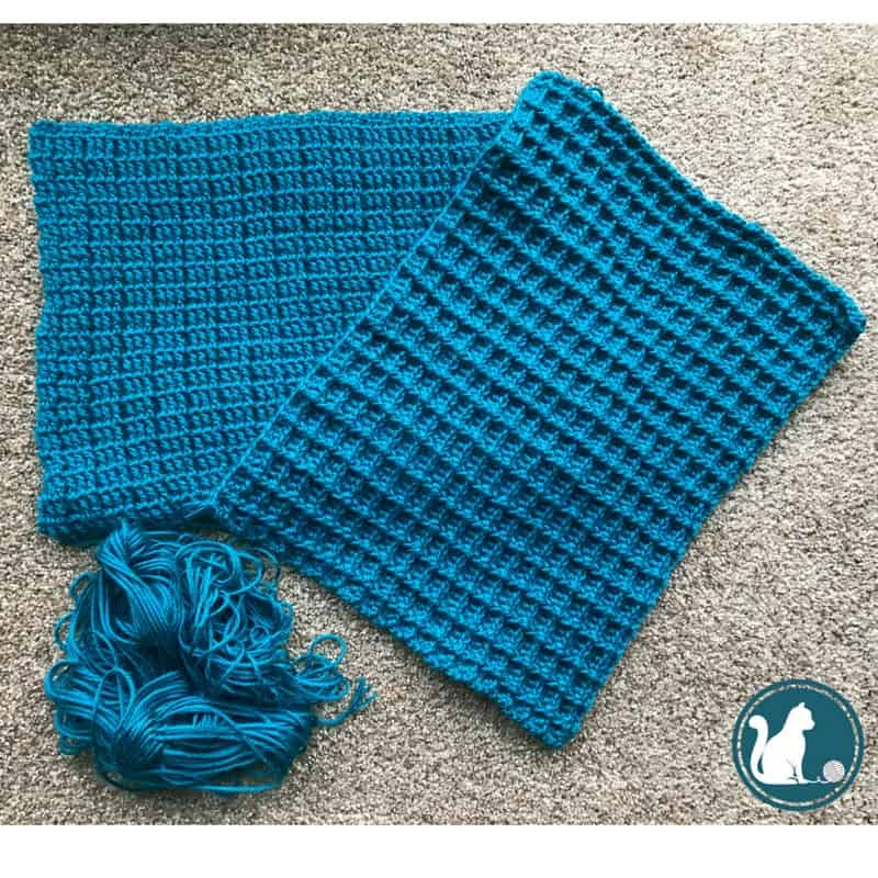 Shadow Box Pillow Cover - free crochet pattern