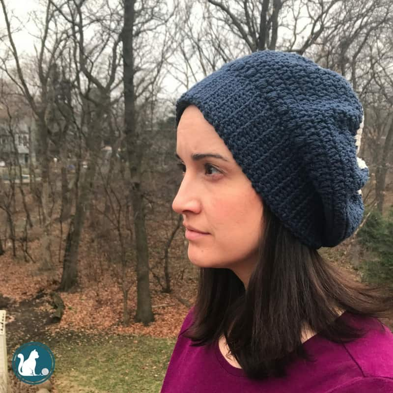 8592a93bce5 Looking for an easy and free pattern for a crochet slouchy hat  Visit the  blog