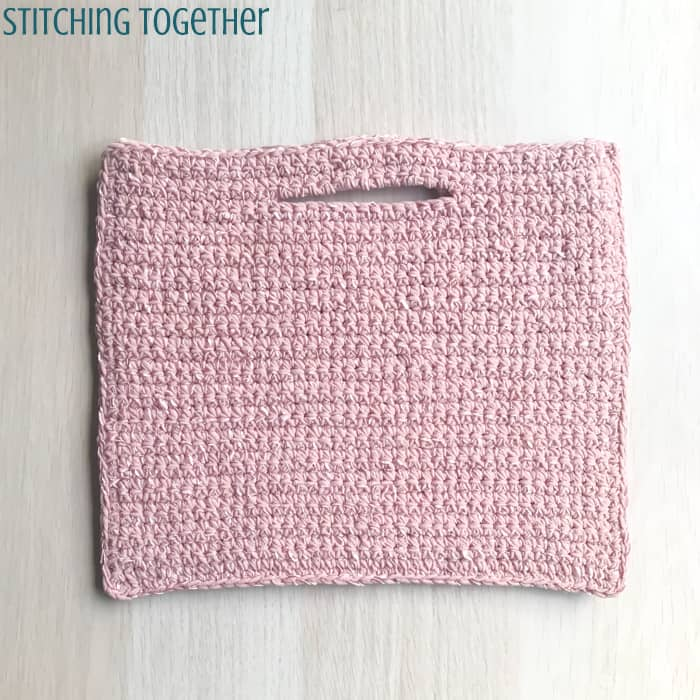 pink small crochet purse