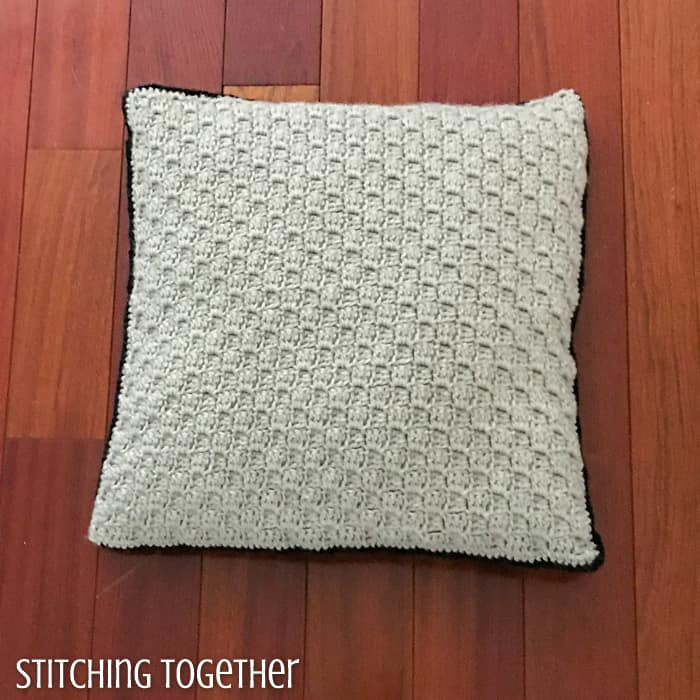 corner to corner pillow cover in ivory color