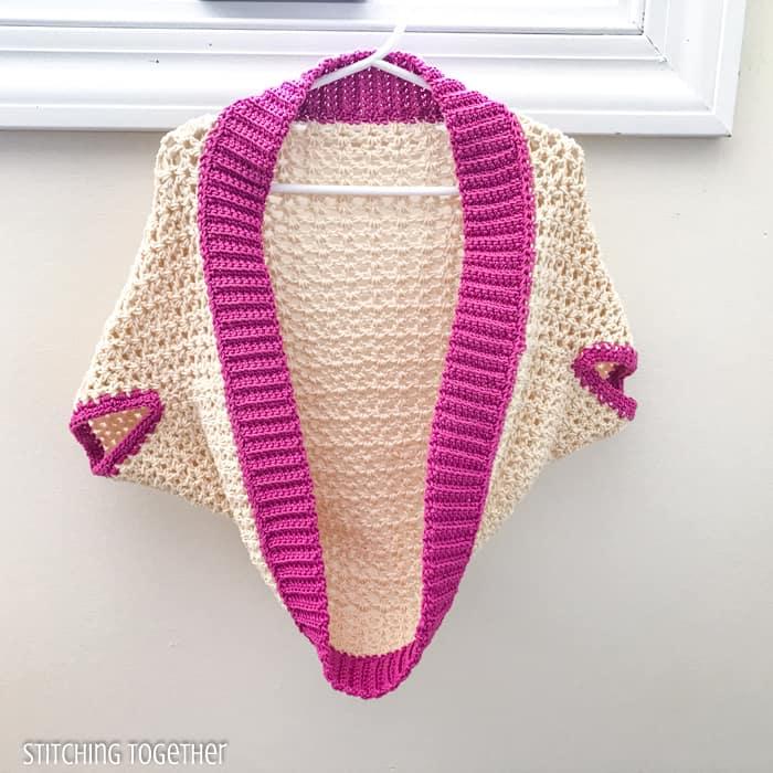 cocoon crochet shrug hanging