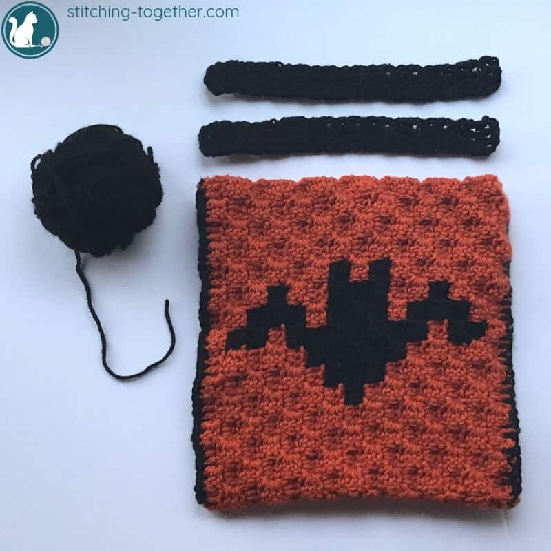 crochet halloween treat bag with handles