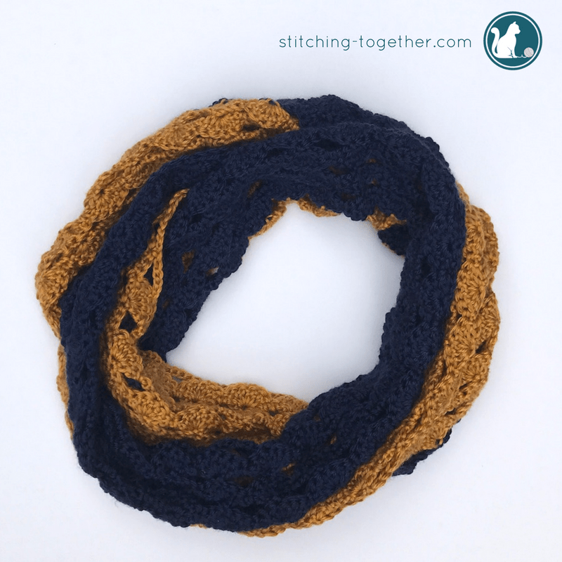 Coco Crochet Infinity Scarf Stitching Together