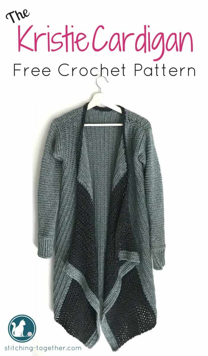 crochet blanket cardigan pin image