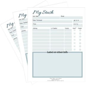 Free Printable to help you organize your yarn stash. This simple printable provides a great way to help track your yarn purchases.