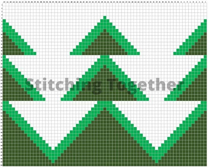 crochet graph for Christmas Tree Pillow