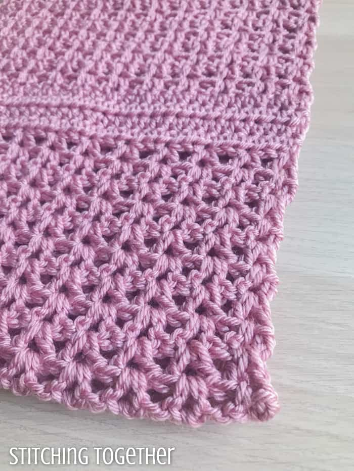 crochet v stitches close up