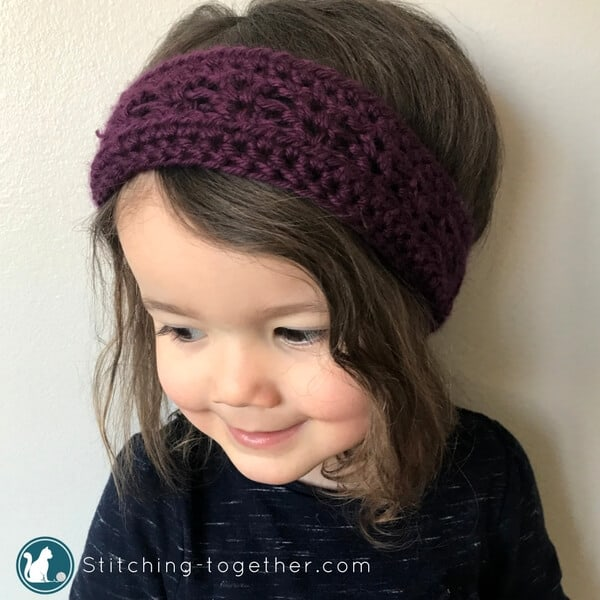 Coco Crochet Toddler Headband Stitching Together