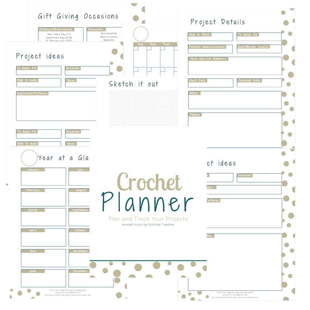 Crochet Planner Free Download Stitching Together