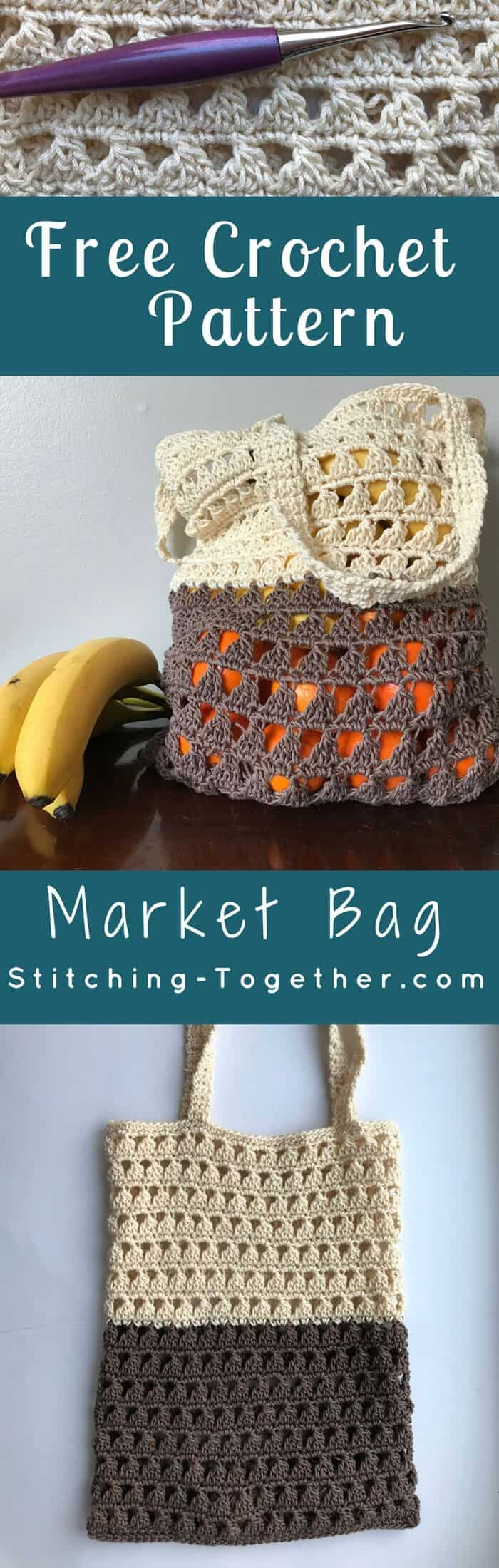This crochet grocery bag will be perfect for the Farmers Market this summer! Not only is it a green DIY but this market bag is also so stylish! You can start on this market tote today with the free crochet pattern!