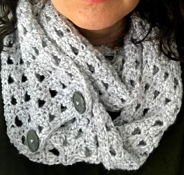 Easy Crochet Infinity Scarf Snowfall Scarf Stitching Together