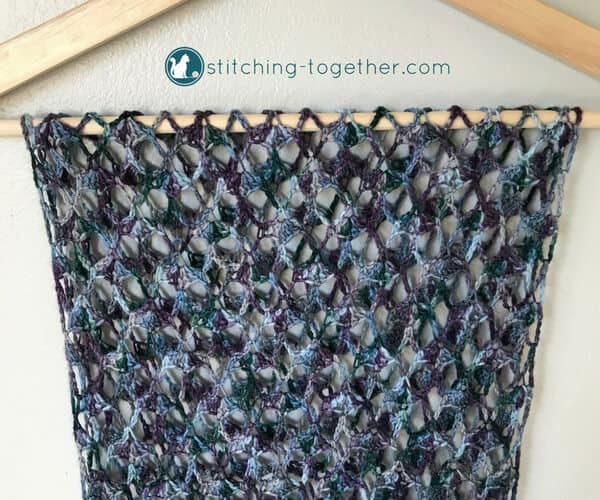 Crochet Lacy Scarf Pattern Stitching Together