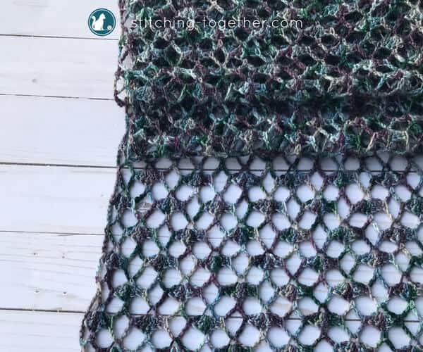 Crochet Lacy Scarf Pattern | Stitching Together