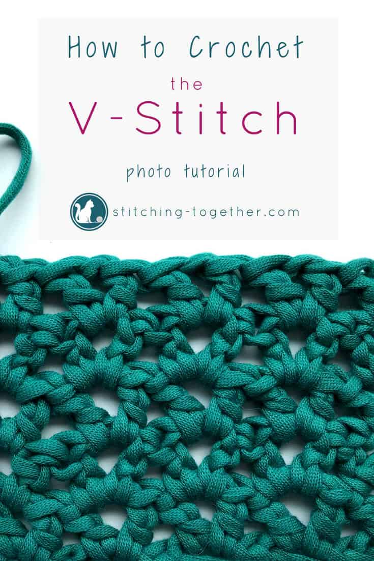 Learn how to crochet the v-stitch with this easy photo tutorial. The tutorial also includes instructions on how to add rows of other stitches on to your v-stitches. The stitch pattern is also known as the open v-stitch or dc v-stitch. What will you make with these stitches?