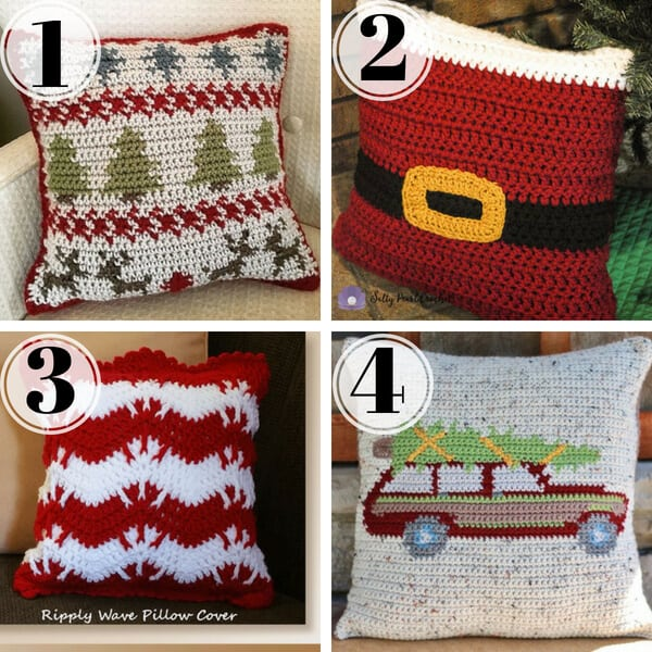 Crochet Christmas Pillow Patterns Stitching Together