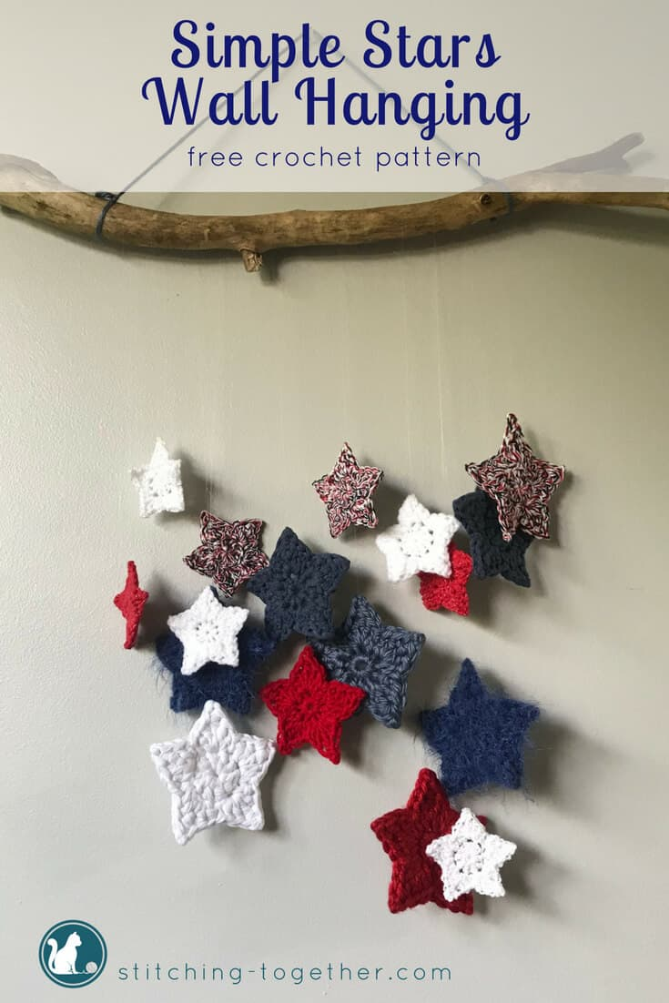 Crochet Star Wall Hanging Stitching Together