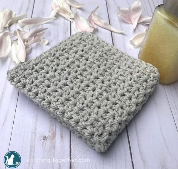 Are you ready for a day at the spa? Use this easy crochet washcloth pattern to make a spa-worthy washcloth and get ready to relax and rejuvenate! This easy crochet washcloth would also be a lovely housewarming gift or a wedding gift.