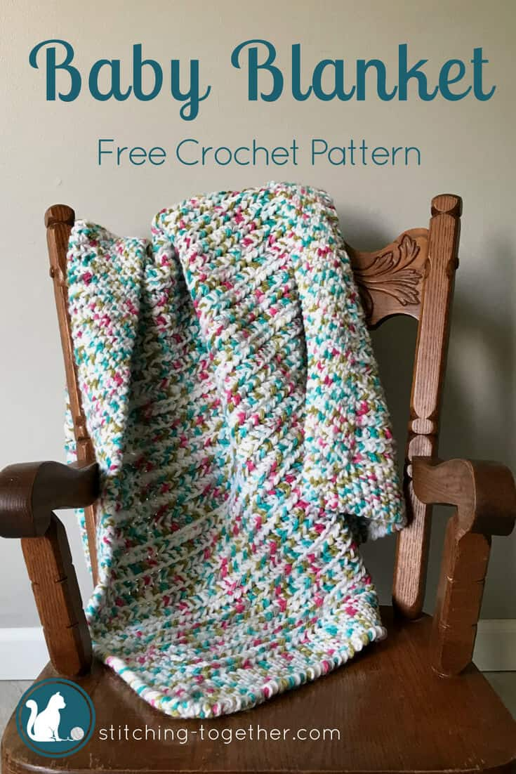 Sprinkles Easy Crochet Baby Blanket | Stitching Together