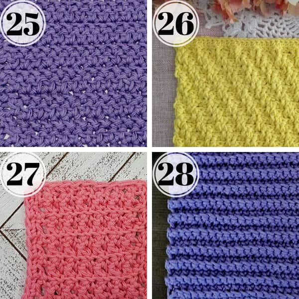 best stitches for crochet washcloth