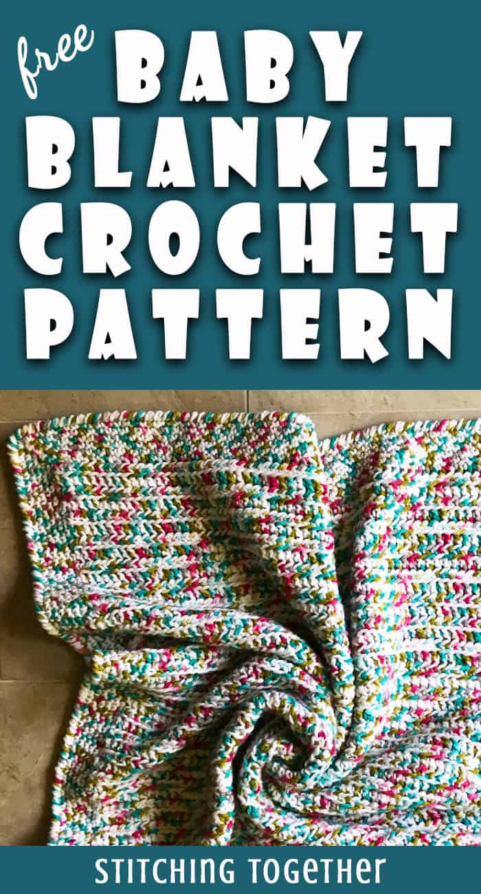 easy crochet baby blanket pin image
