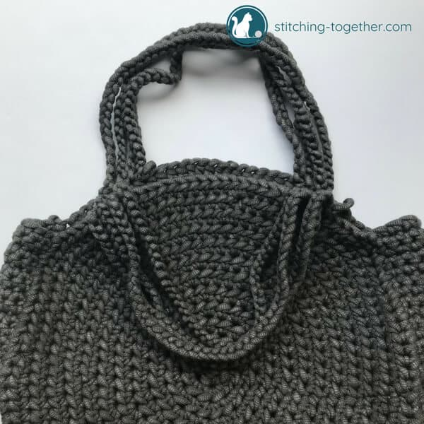 crochet circle bag handles