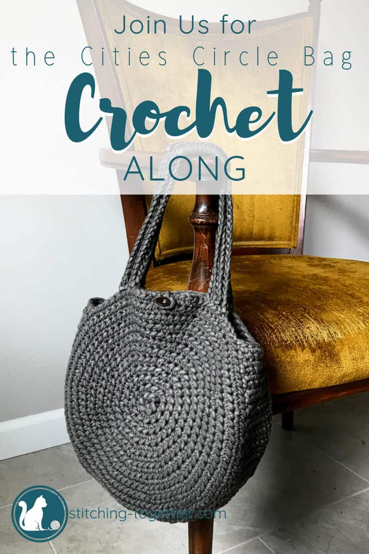 Pin image of crochet circle bag on yellow chair