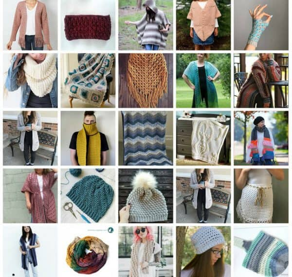 crochet pattern bundle collage