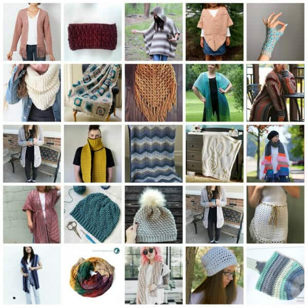 crochet pattern bundle collage