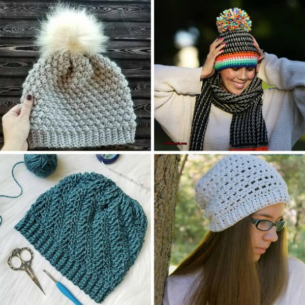 pic of 4 crochet hats