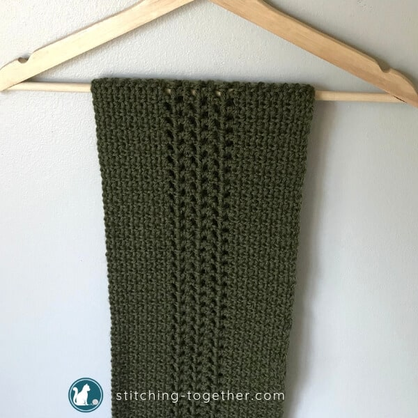 Crochet Moss Stitch Scarf Stitching Together