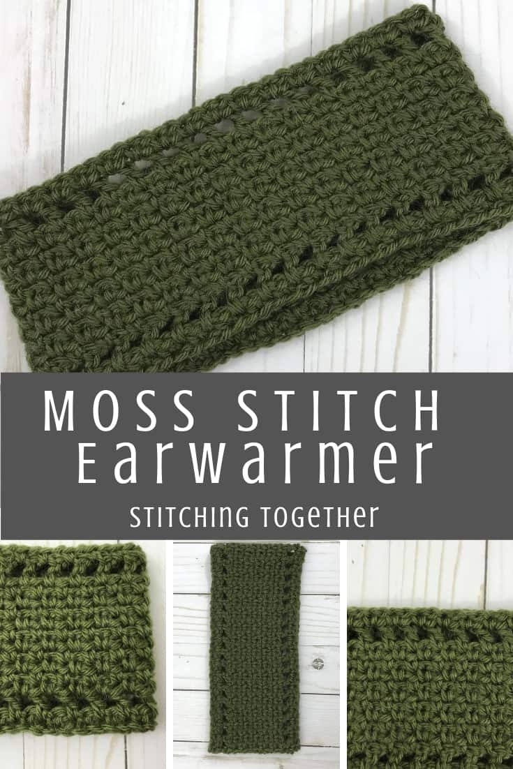 moss stitch ear warmer pin image