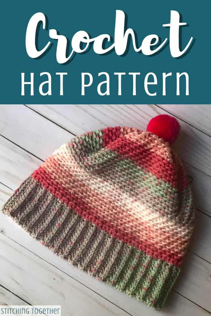 hat with brim crochet pattern pin image