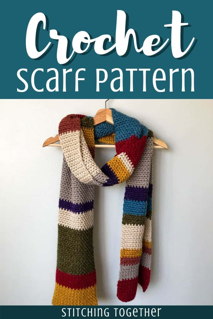 Multicolored crochet scarf pin image