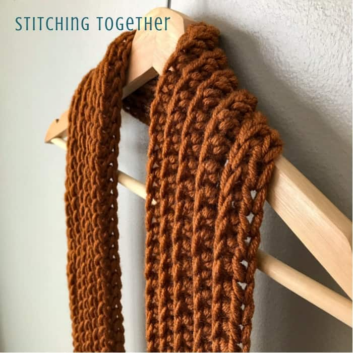 Entirely Easy Men's Scarf Crochet Pattern | Stitching Together