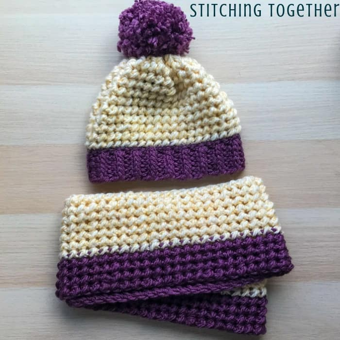 matching crochet hat and chunky scarf