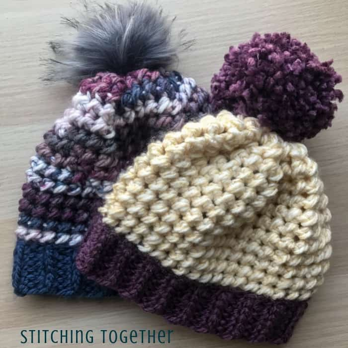 Love This Chunky Yarn Crochet Hat Pattern Stitching Together