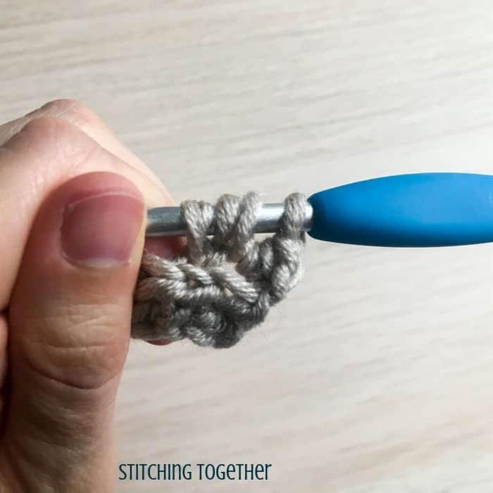 many loops on a crochet hook