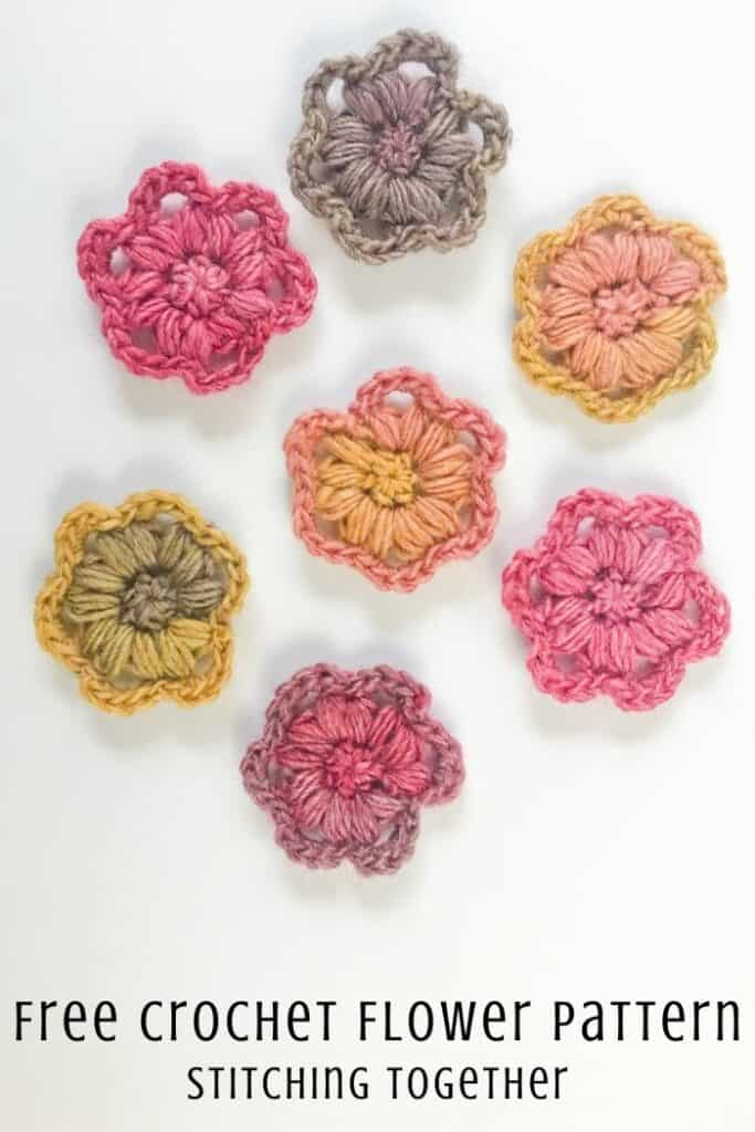 colorful crochet flowers