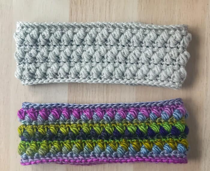 2 crochet ear warmers