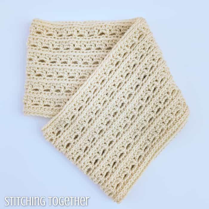 folded crochet infinity cowl