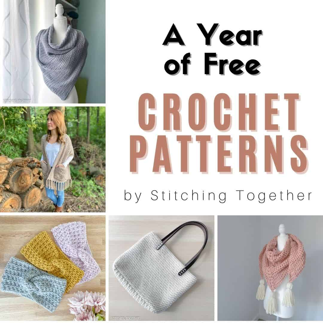 collage image of free crochet patterns