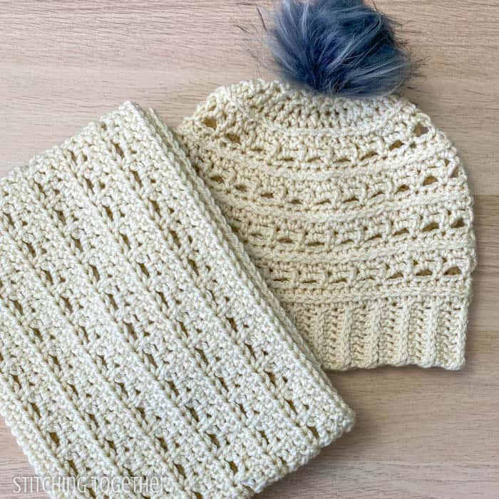 hat and cowl set crochet