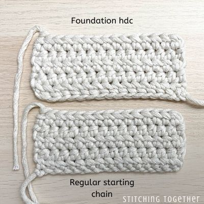 2 crochet swatches