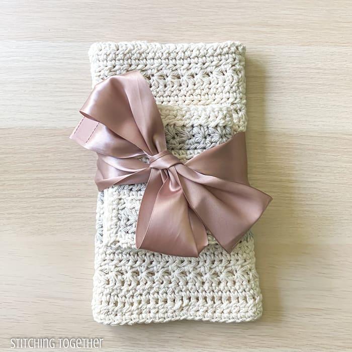 crochet kitchen dish towel gift set