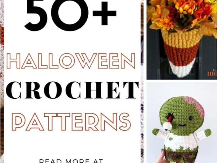 pin image of crochet halloween items