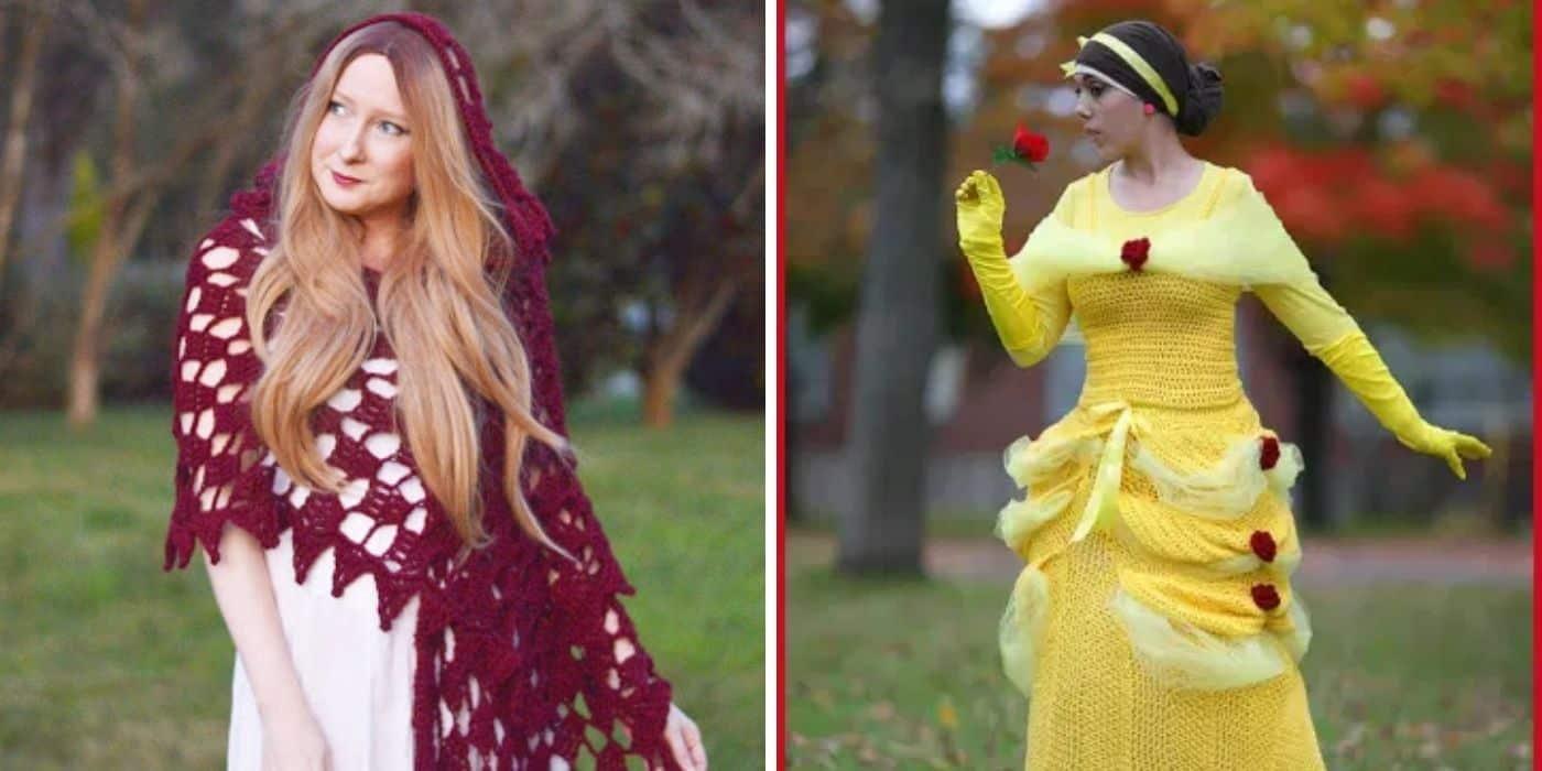crochet cape and princess costume