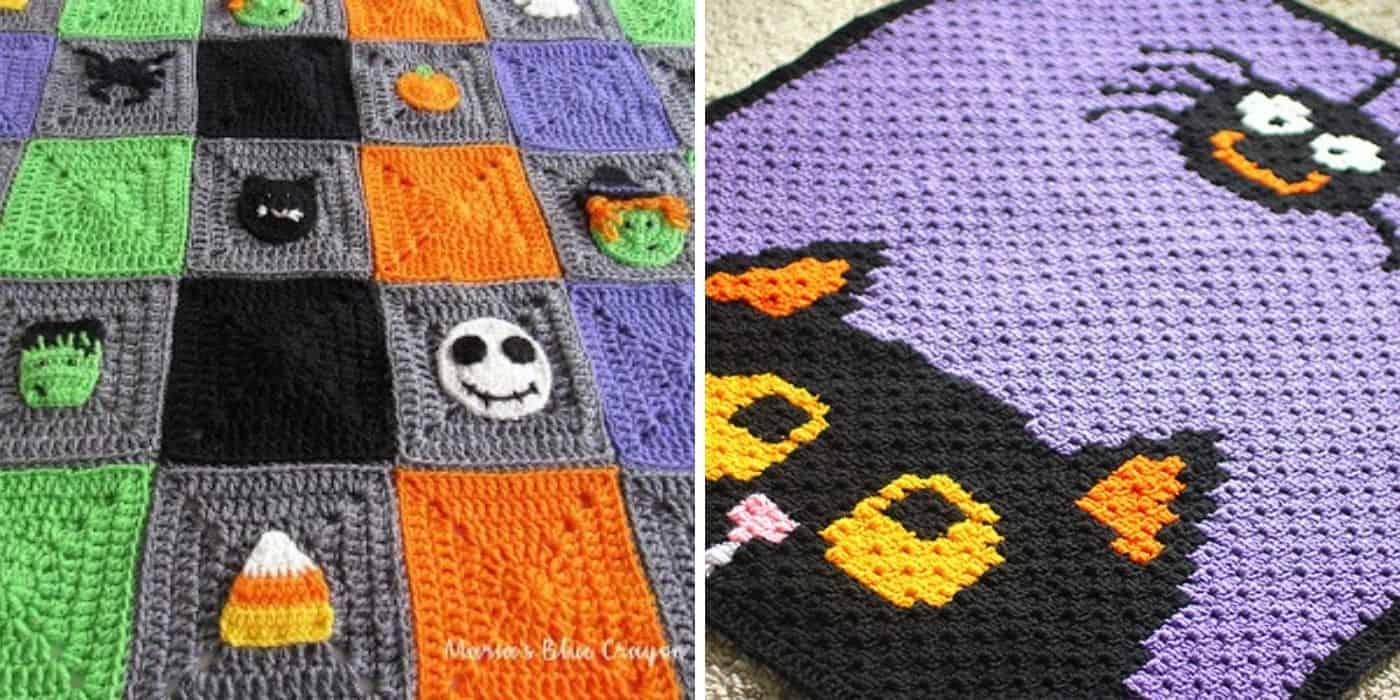 crochet halloween blankets